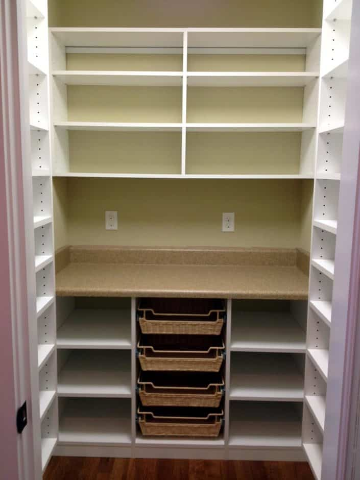 Classic White Pantry Storage Solution By Carolina Closets